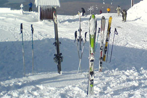 A selection of skis.