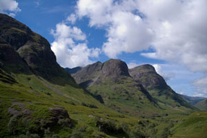 The Three Sisters in Glencoe